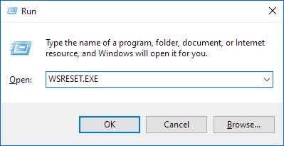 Reset Windows Store app