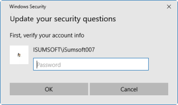 Enter current local account password
