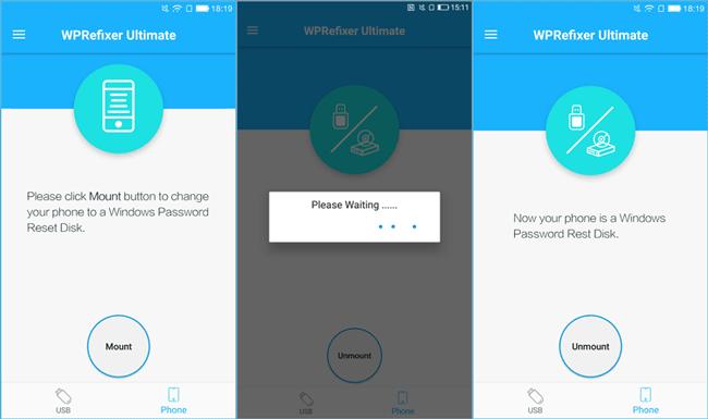 mount WPRefixer to android phone
