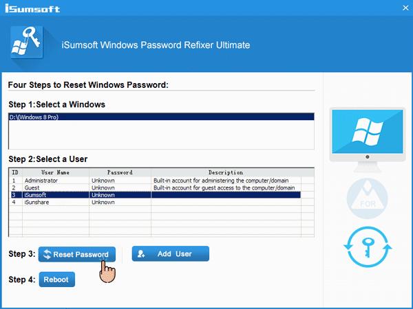 Restablecimiento de contraseña de Windows