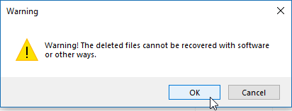 Delete files completely