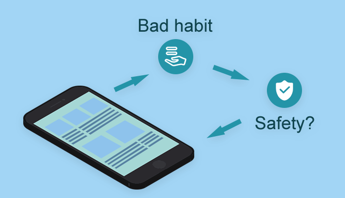 some bad habits of using cell phone