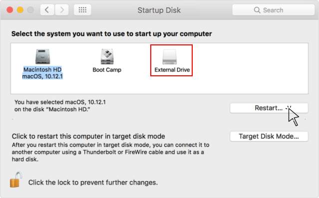 Mac System Startup Drive Select