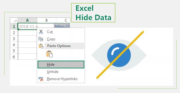 Excel hide data