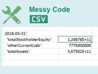 Fix Excel CSV Messy Code