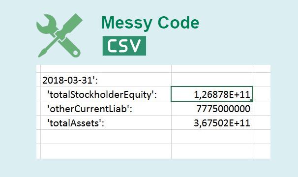 Corregir el código desordenado de Excel CSV