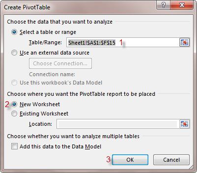 select new worksheet