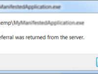 fix error ''a referral was returned from the server''