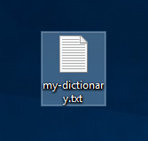 Dictionary File