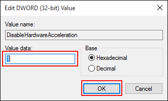 Disable Hardware Acceleration in Registry