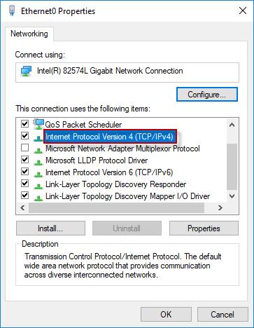 double click internet protocol version 4