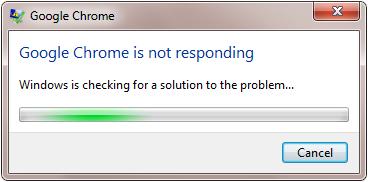 fix chrome not responding issue