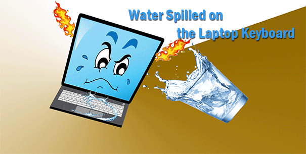 Fixed: water spilled on the laptop keyboard