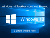 fix Windows 10 taskbar icons not showing issue