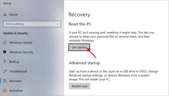 Start reset PC