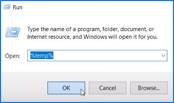 Open %temp% folder