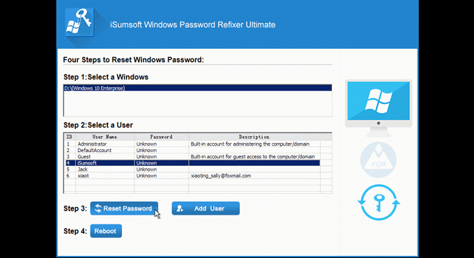 Reset Windows password