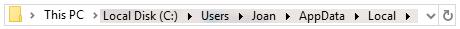 track the location file explorer