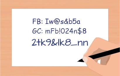 Write Down Passwords