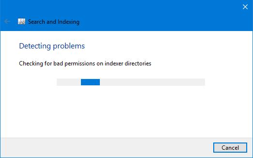 проверьте проблемы поиска Windows