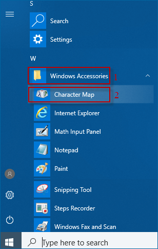 navigate to the windows accessories folder