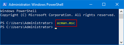 run windows powershell window