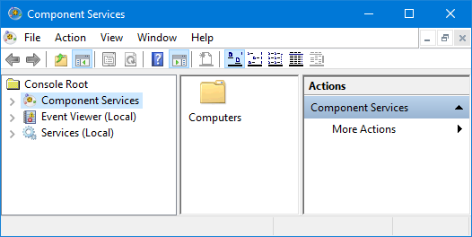 start component services