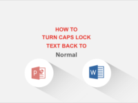Turn Caps lock text back to normal