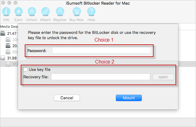 mount BitLocker encrypted USB drive