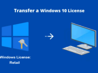 Transfer Windows 10 digital license