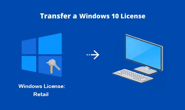 Transfer Windows 10 digital license