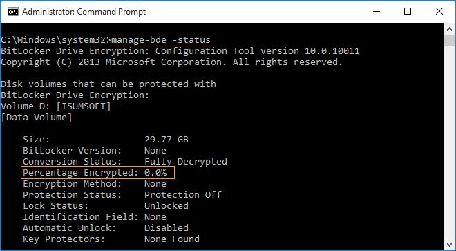 check decryption progress
