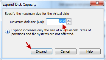 adjust the new maximum size