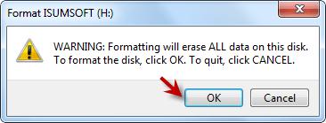 click OK button