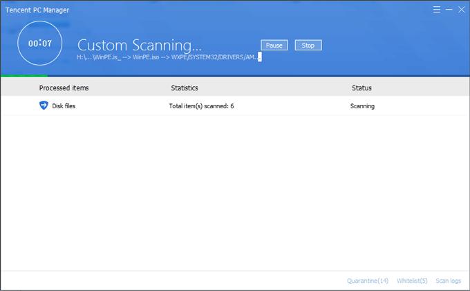 escanear la unidad USB infectada