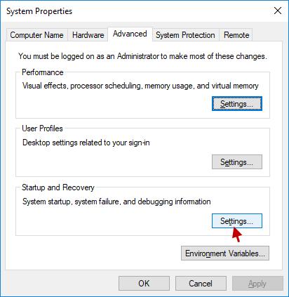 haga clic en configuración