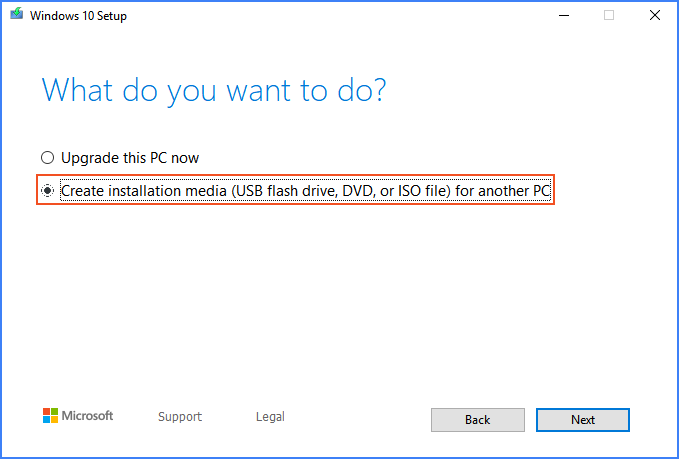 Create installation media iso file for another PC