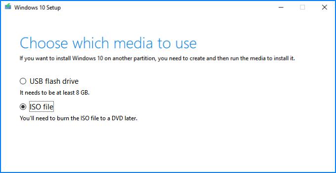 Create ISO file