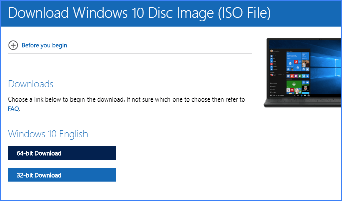 Download Windows ISO from Chrome