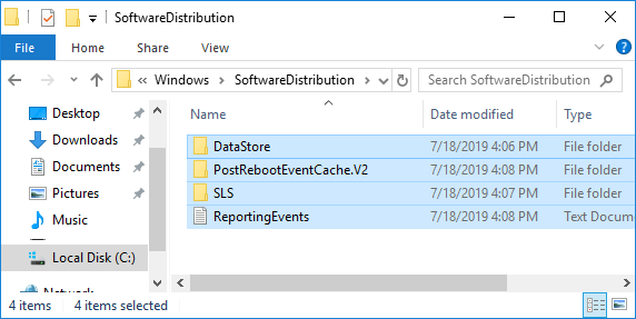 go back to the File Explorer