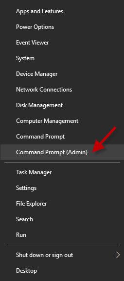 open CMD from WinX menu