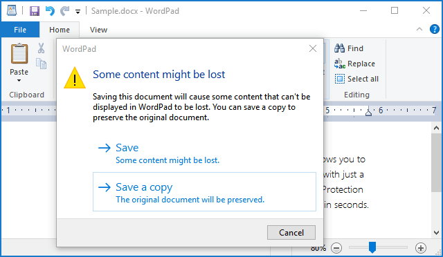 Save document as a copy