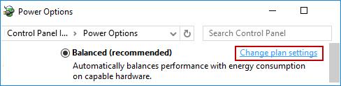click Change plan settings
