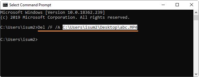 Eliminar archivo usando CMD