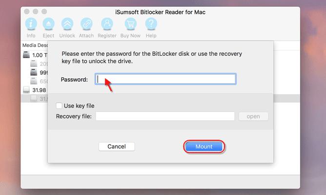 enter password for BitLocker drive