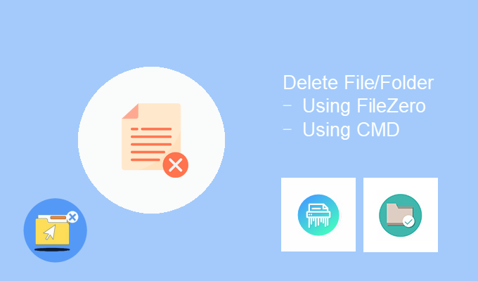 Erase the hard to delete files folders