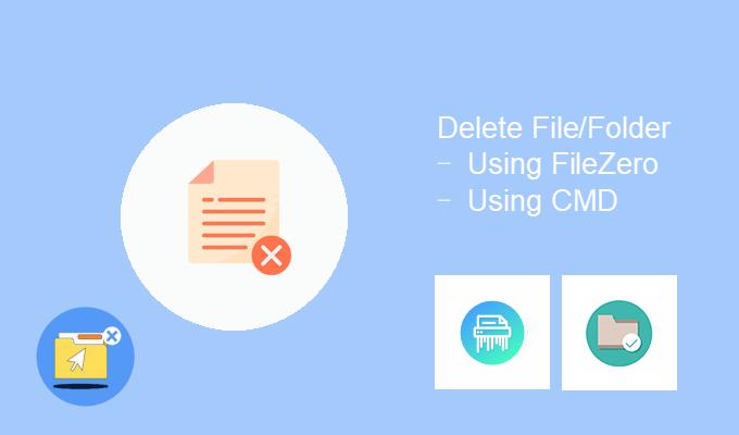 Borre las carpetas de archivos difíciles de eliminar