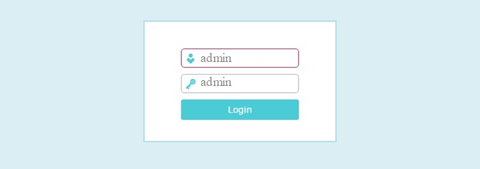 Login with admin