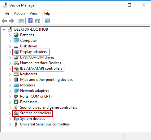 open Device Manager window
