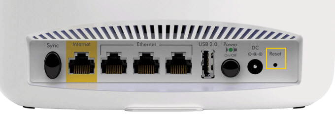 Hard reset router